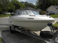 Great 18' Monterey M-Series 180 open bow rider. Boat is