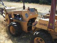 1987 Case DH4B Diesel Backhoe with plow on 1 side, and