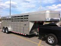 2013 Delta GN Livestock Trailer twenty x 6 6 amp quot