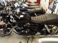 "2013 Triumph BonnevillePhantom Black $7,699* 29""seat,"