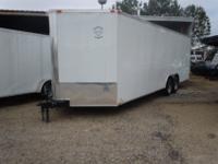 THIS 2012 DIAMOND CARGO 8.5' X 24' TANDEM AXLE ENCLOSED