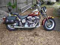 1998 HARLEY CUSTOM FAT-BOY LOTS OF CHROME, two IN 1