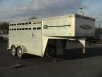 1993 Cherokee all aluminum stock trailer. fourteen
