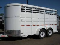 4062 2010 Circle D, 16 amp 039 Stock Trailer RENTAL