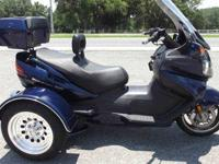 2006 SUZUKI BURGMAN 650 TRIKE 7856 MILES ON IT RUNS