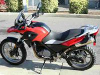 This 2012 G650GS has less miles, at 661, then the
