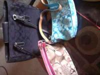 i have 7 different coach bags for sale $350 for all or