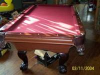 I have a 7' C.L. Bailey pool table for sale. The table