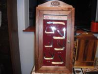Up for sale is set of Case knives in a wooden Case