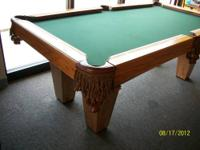 I have an 7' oak closeout Brunswick pool table for