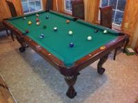 7' Connelly Durango pool table. It is a custom carved