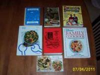 7 cook books. Clean and in excellent condition.