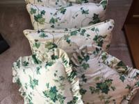 7 Custom made WAVERLY IVY PILLOWS 21x21plus two ruffled