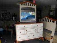 For Sale 7 drawer dresser with large mirror and
