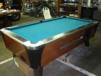 Dynamo valley 7' pool table with the coin mechanism. I