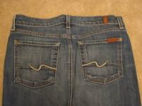 true authentic 7 for all mankind blue jean skirt, it's