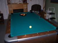 7 Ft. Slate top Valley Pool Table.. Home version of a