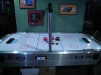 7 ft sportcraft air hockey table with electronic