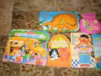 7 Hard Board Books and 3 Reg Childrens Books, book
