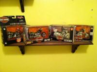 All are die cast metal with plastic parts. Very
