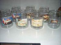 These are clean, sterilized large candle jars ready for