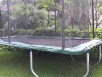 Like brand-new trampoline. Got it for Christmas but