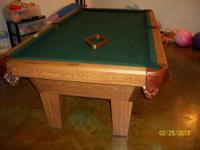 I have a 7' Olhausen slate pool table for sale. The