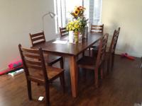 7-piece dining set originally purchased from Costco.