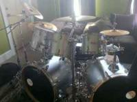I have a 7 piece Mapex V series drum set for sale. Drum