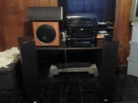 7 Piece Stereo System includes 4 polk audio speakers in