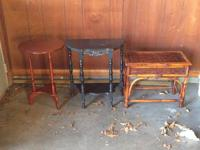 all in good condition; $20 for each table;   We have
