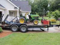 7 ton 18 foot dual axle trailer with dovetail and