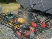 I have 7 project lawn mowers that need work or can be