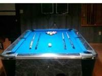 "7"" Valley Pool Table. New Championship Tour Edition"