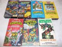 Got a TMNT lover? 7 VHS movies $8 cash sale, no checks