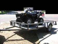 2005 Silver Fox 2 Place atv Trailer 7' X 12' flat bed