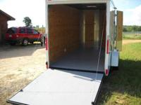 7 X 14 ENCLOSED CARGO TRAILER INCLUDING THE ROUNDED V