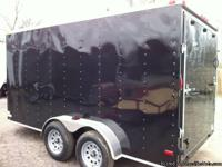 7' x 14' plus V-nose Tandem Axle Enclosed Cargo Trailer