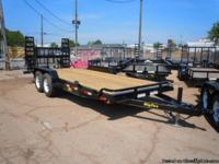 "THIS UNIT IS A 2012 Big Tex 83"" X 18' TANDEM AXLE WITH"