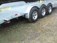 7 X 23' EQUIPMENT TRAILER (3) 7000LB AXLES WITH BRAKES