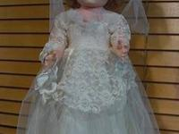 This is an All Original 1955 Sayco Bride walker doll.