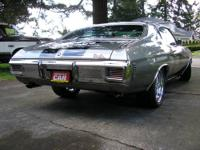 The 70 Chevelle has been restored to show room