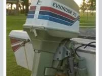 70 horse EVINRUDE motor- for sale or trade-