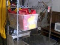 We have a big metal kitchen rack for sale. It is in