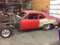 Tubbed 70 nova project car. Has pro star wheels 14 1/2