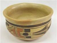 Vintage Hopi Polychrome Bowl - Rachel Nameyo. 3.5''H x
