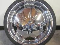 MPW 5 LUG 20 INCH CHROME RIMS & TIRES - BOLT PATTERN