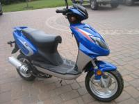 here is a near new blue 2007 bashan 50cc scooterv only