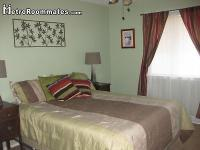 Very nice furnished room. Queen size bed with linens.