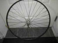 Dura Ace hub with dt double butted spokes and 700cc